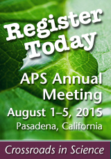 APS Annual Meeting Register Today