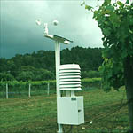 Figure 10. A typical weather station used to collect information for the prediction of downy mildew outbreaks. (Courtesy G. Ash)